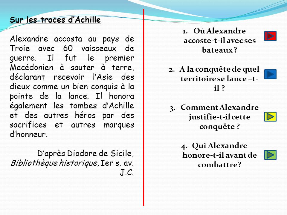 Sur les traces d'Achille