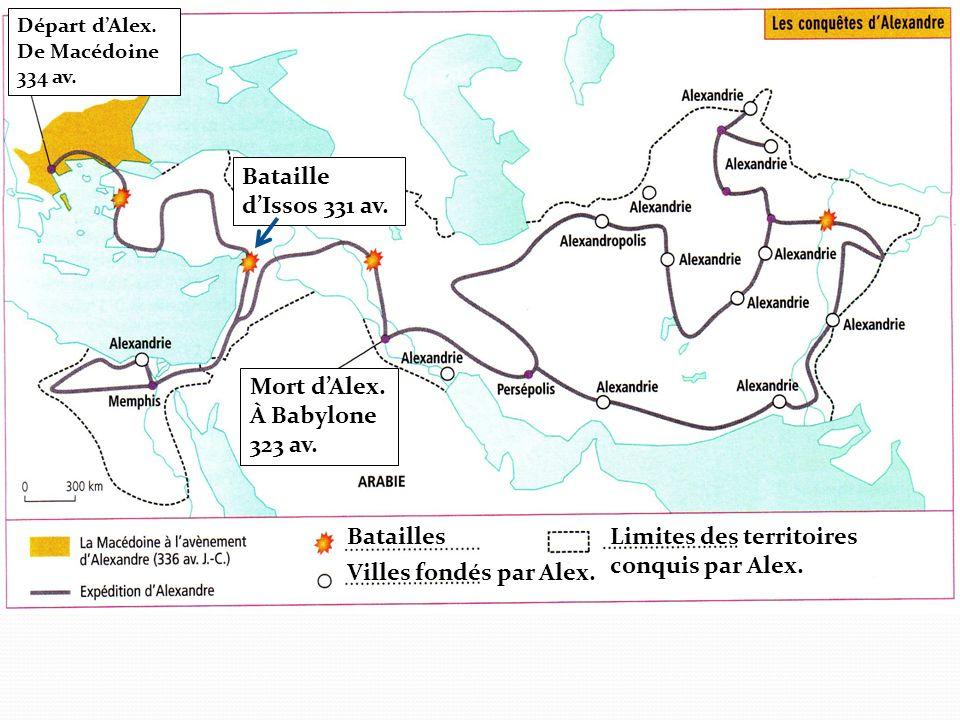 Mort d'Alex. À Babylone 323 av.