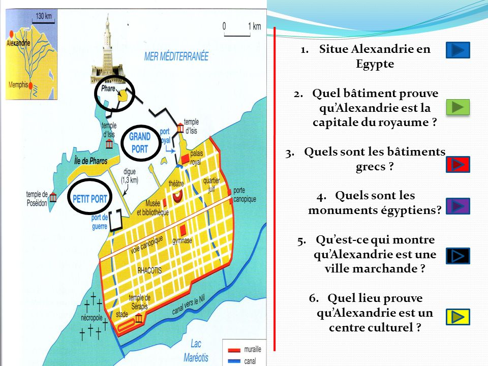 Situe Alexandrie en Egypte