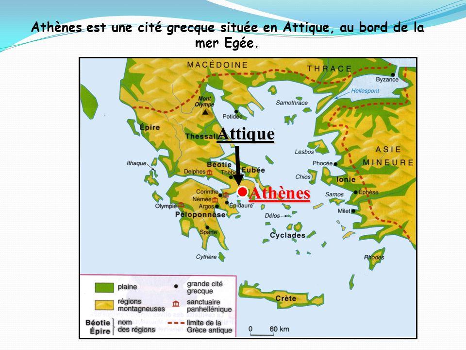 Athènes est une cité grecque située en Attique, au bord de la
