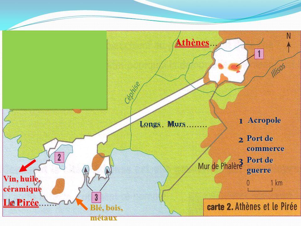 Athènes 1 2 3 Le Pirée Acropole Port de commerce Port de guerre