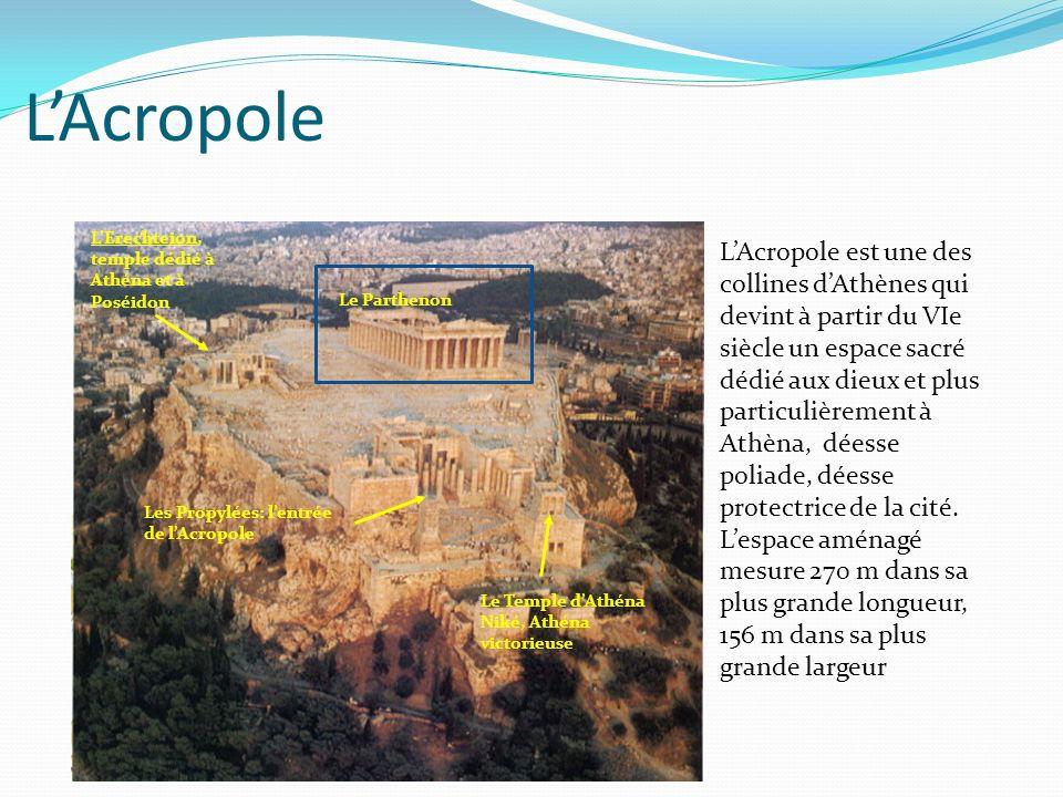 L'Acropole L'Erechteion, temple dédié à Athéna et à Poséidon.