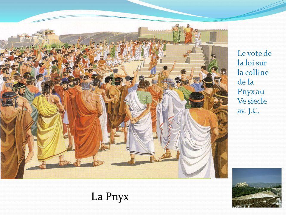 Le vote de la loi sur la colline de la Pnyx au Ve siècle av. J.C.