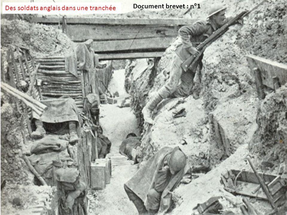 Document brevet : n°1 Des soldats anglais dans une tranchée