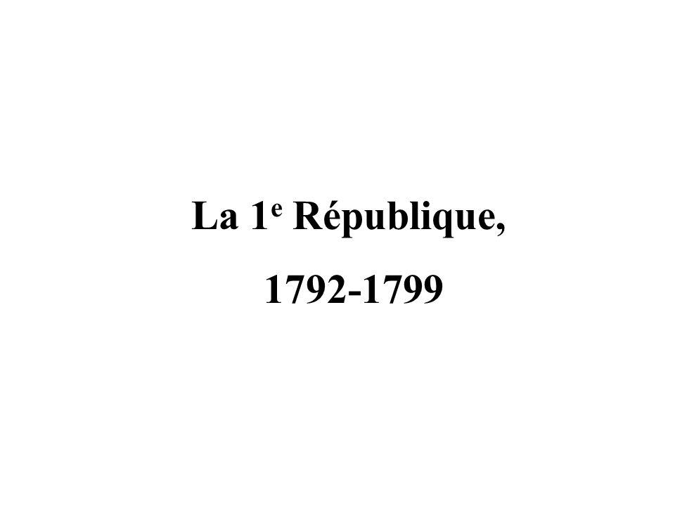 La 1e République, 1792-1799
