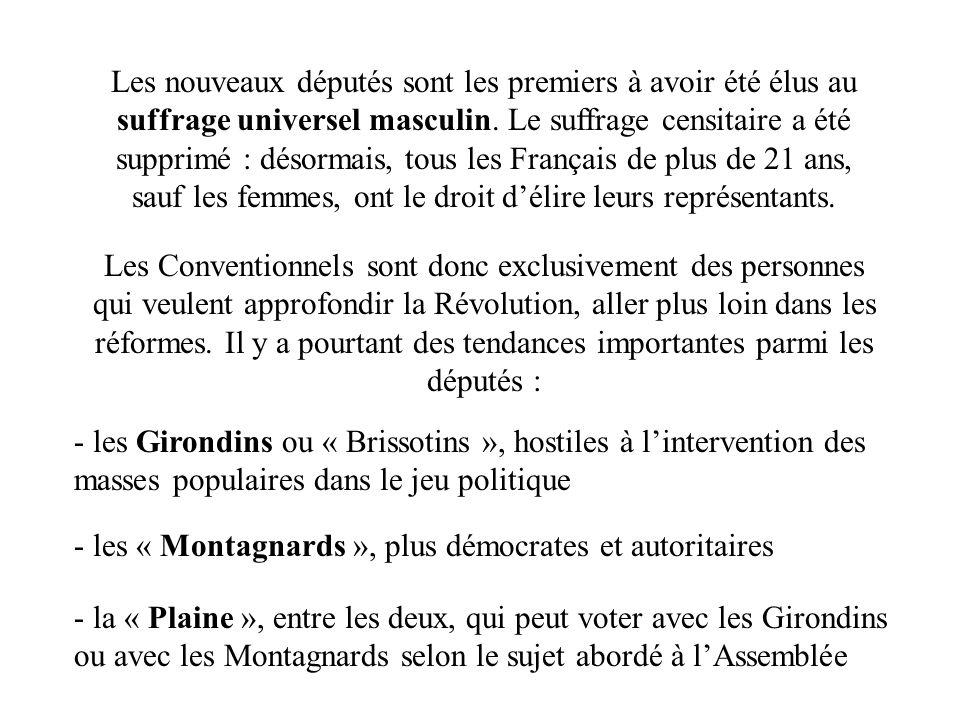 Les nouveaux députés sont les premiers à avoir été élus au suffrage universel masculin. Le suffrage censitaire a été supprimé : désormais, tous les Français de plus de 21 ans, sauf les femmes, ont le droit d'élire leurs représentants.