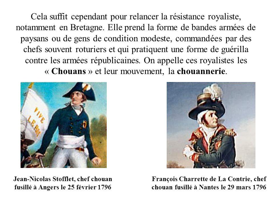 Jean-Nicolas Stofflet, chef chouan fusillé à Angers le 25 février 1796