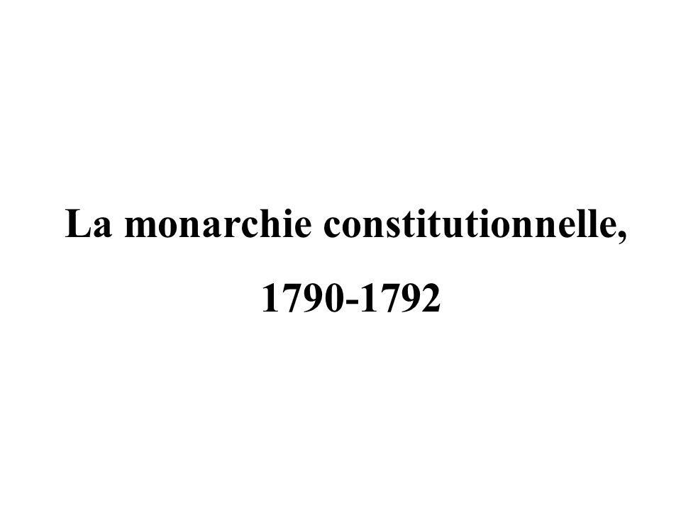 La monarchie constitutionnelle,
