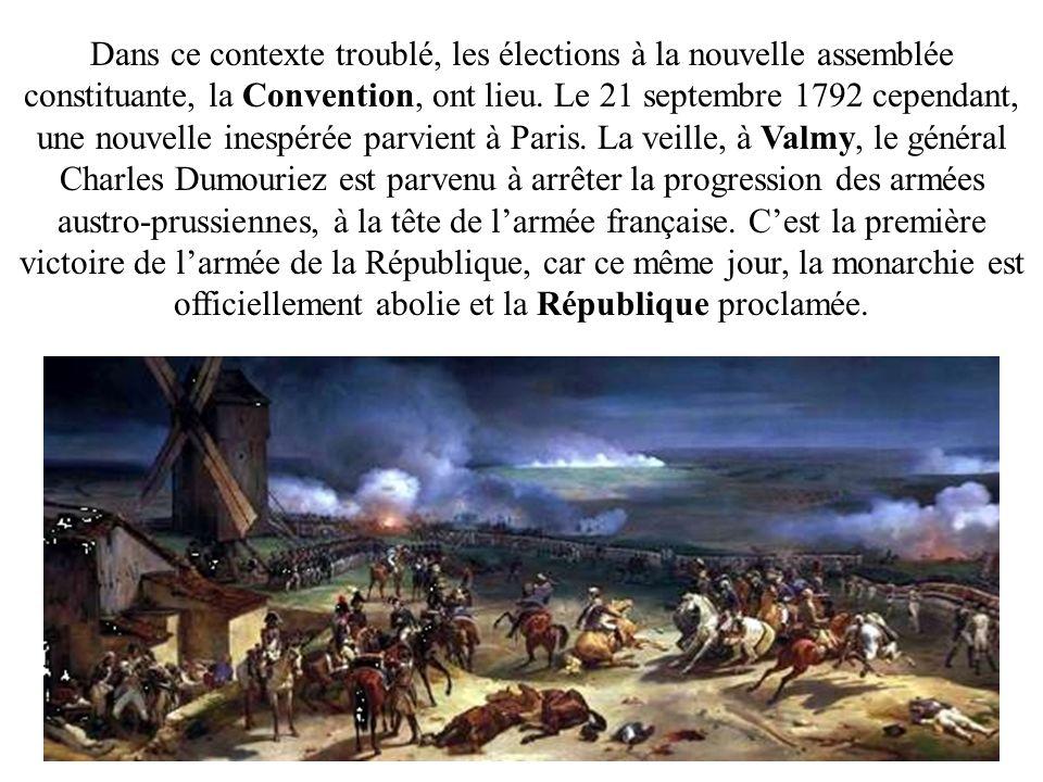 Dans ce contexte troublé, les élections à la nouvelle assemblée constituante, la Convention, ont lieu.