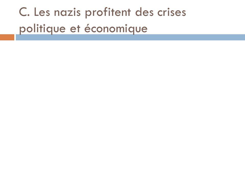 C. Les nazis profitent des crises politique et économique