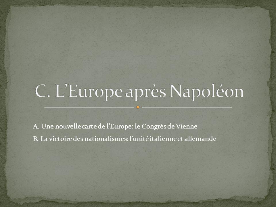 C. L'Europe après Napoléon