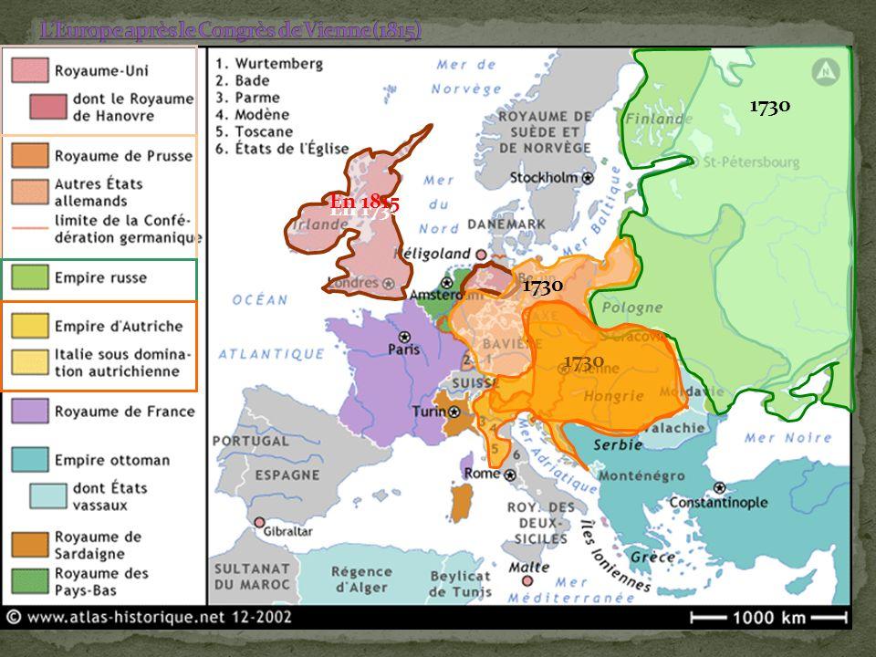 L'Europe après le Congrès de Vienne (1815)