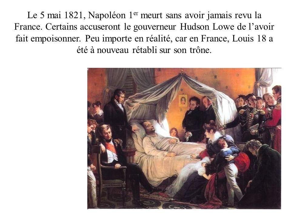 Le 5 mai 1821, Napoléon 1er meurt sans avoir jamais revu la France