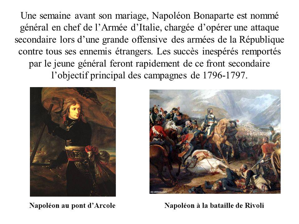 Napoléon au pont d'Arcole Napoléon à la bataille de Rivoli