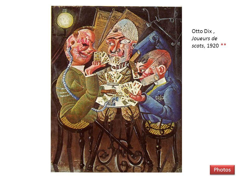 Otto Dix , Joueurs de scats, 1920 **