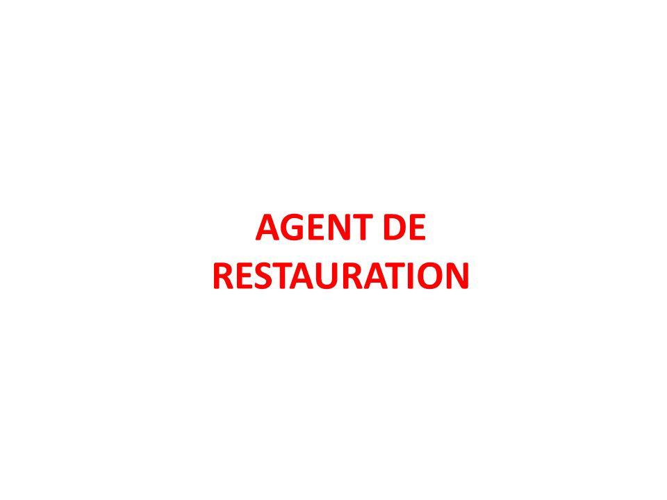 AGENT DE RESTAURATION