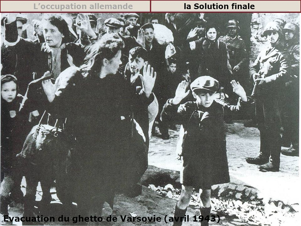 Evacuation du ghetto de Varsovie (avril 1943)