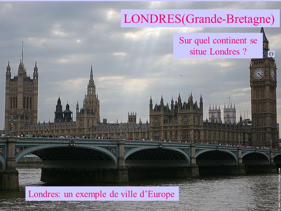 Sur quel continent se situe Londres