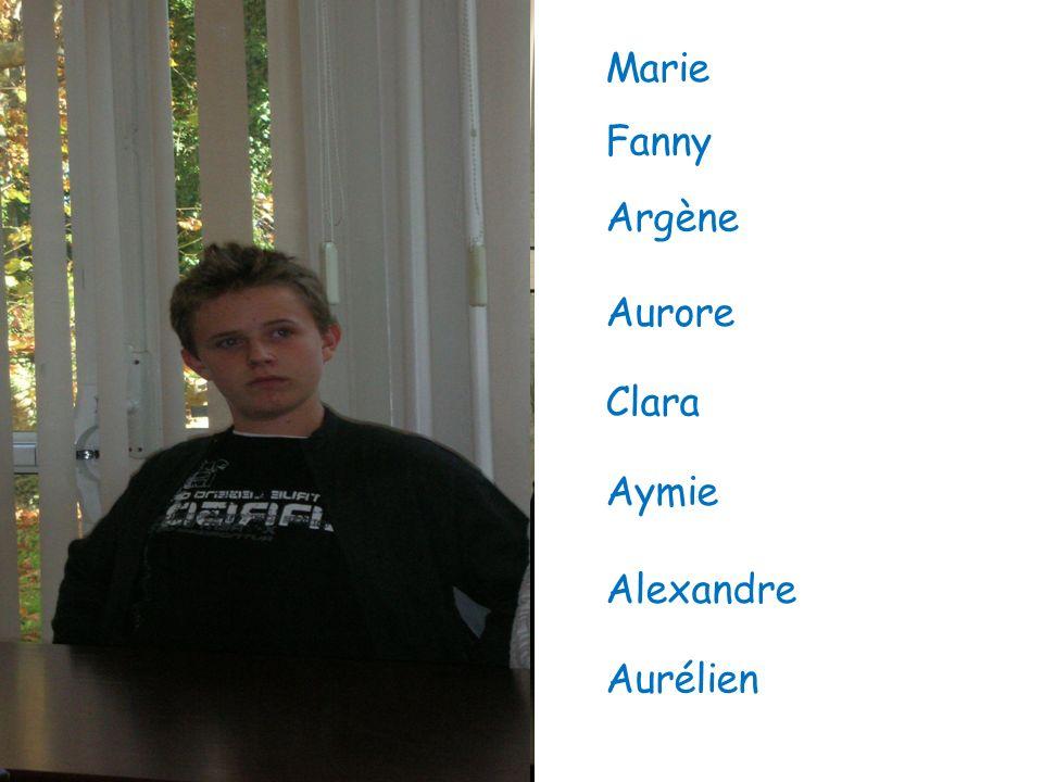 Marie Fanny Argène Aurore Clara Aymie Alexandre Aurélien
