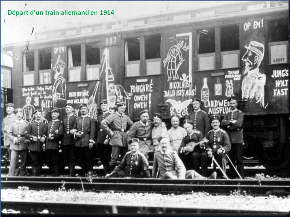 Départ d'un train allemand en 1914