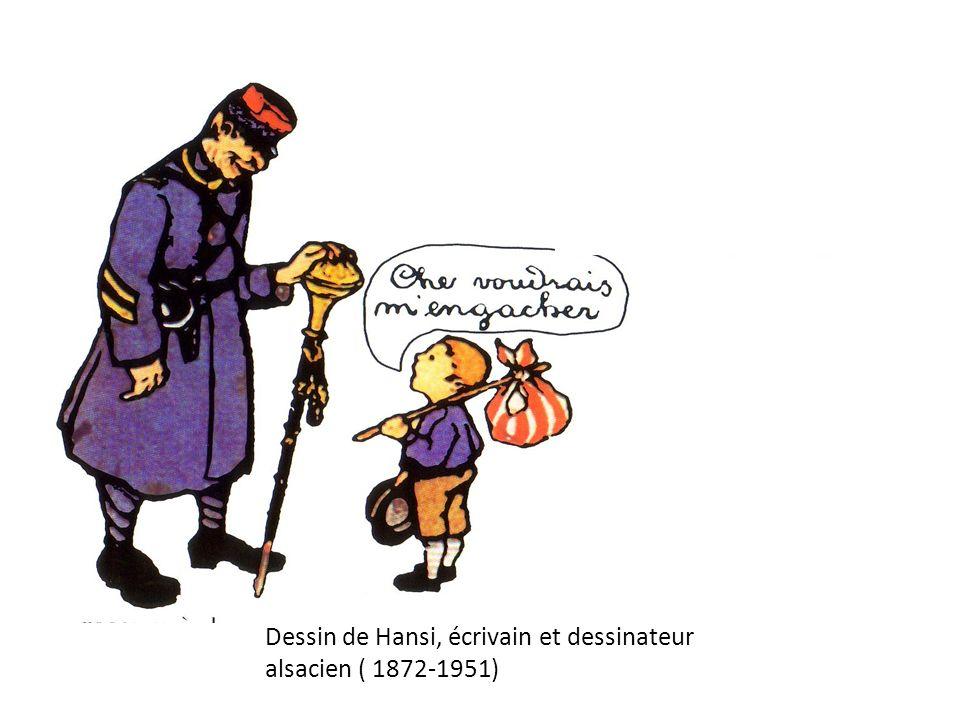 Dessin de Hansi, écrivain et dessinateur alsacien ( 1872- 1951)