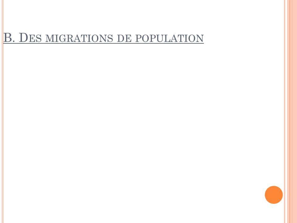 B. Des migrations de population