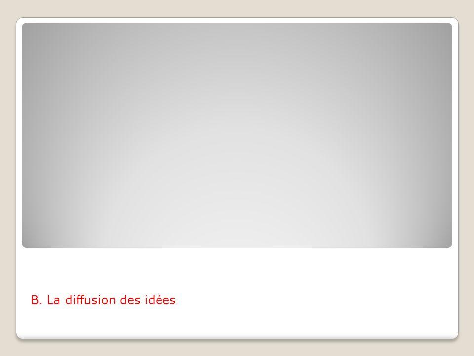 B. La diffusion des idées