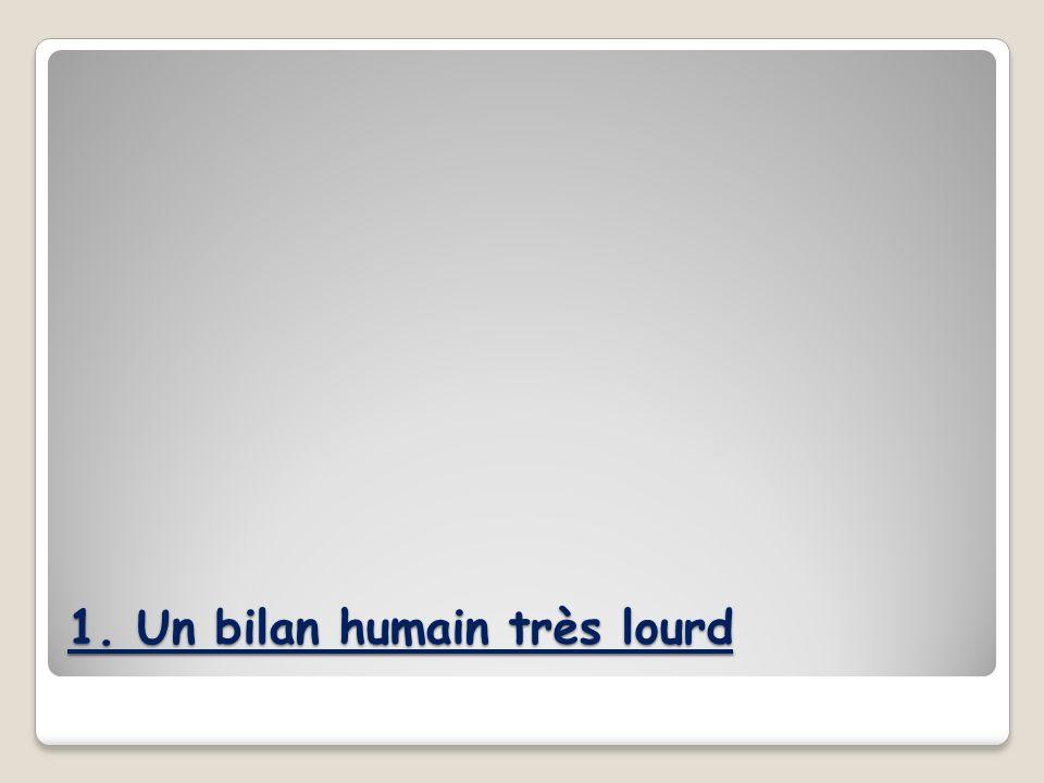 1. Un bilan humain très lourd