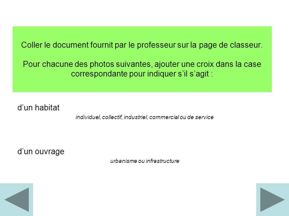 Coller le document fournit par le professeur sur la page de classeur