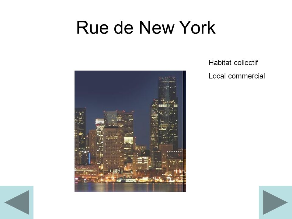 Rue de New York Habitat collectif Local commercial