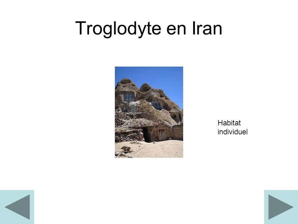 Troglodyte en Iran Habitat individuel