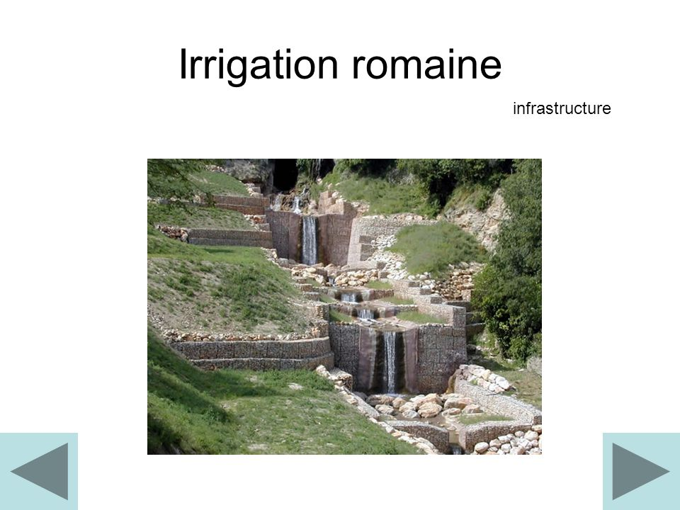 Irrigation romaine infrastructure