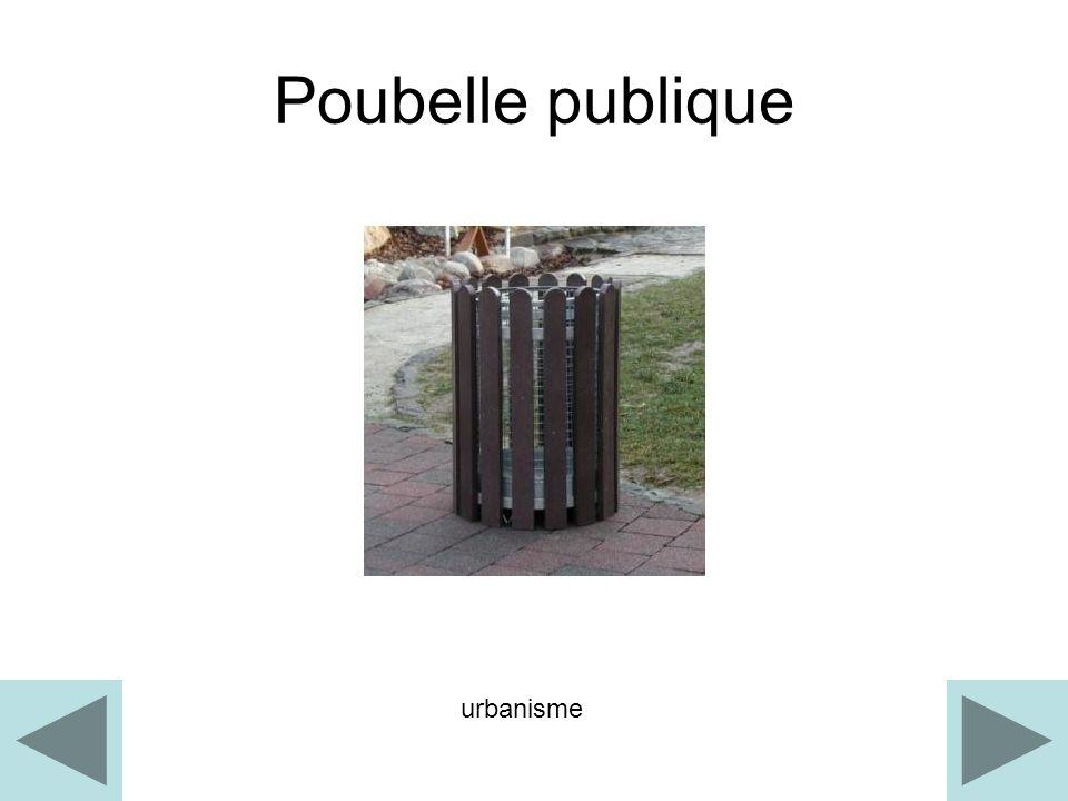 Poubelle publique urbanisme