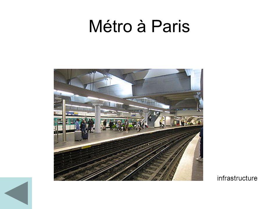 Métro à Paris infrastructure