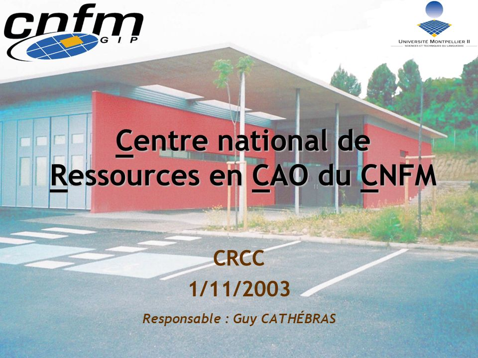 Centre national de Ressources en CAO du CNFM