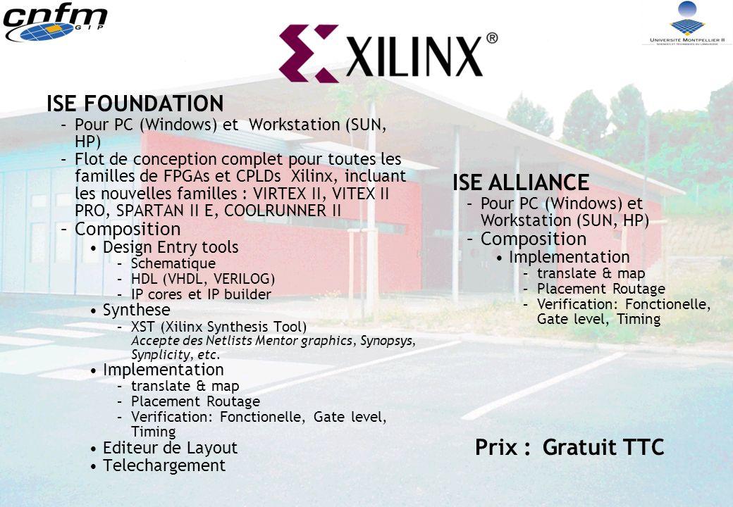 ISE FOUNDATION ISE ALLIANCE Prix : Gratuit TTC Composition Composition