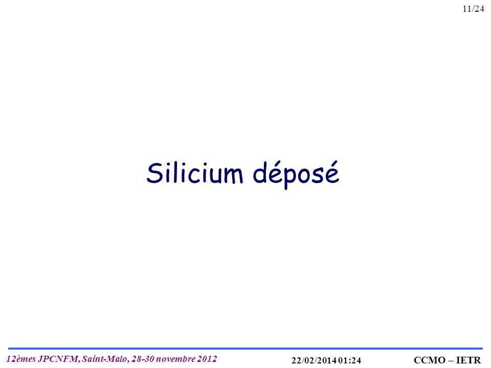 Silicium déposé 26/03/2017 21:48