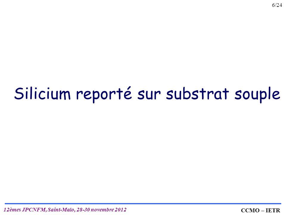 Silicium reporté sur substrat souple