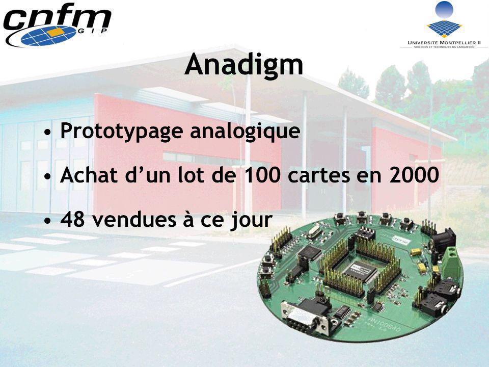 Anadigm Prototypage analogique Achat d'un lot de 100 cartes en 2000