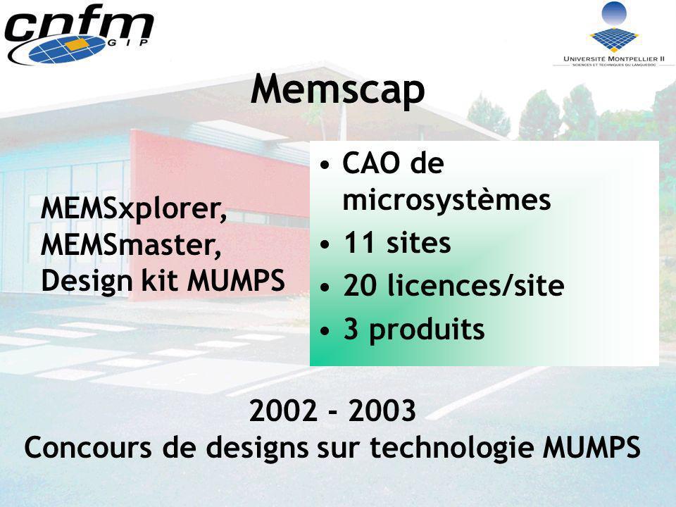 2002 - 2003 Concours de designs sur technologie MUMPS