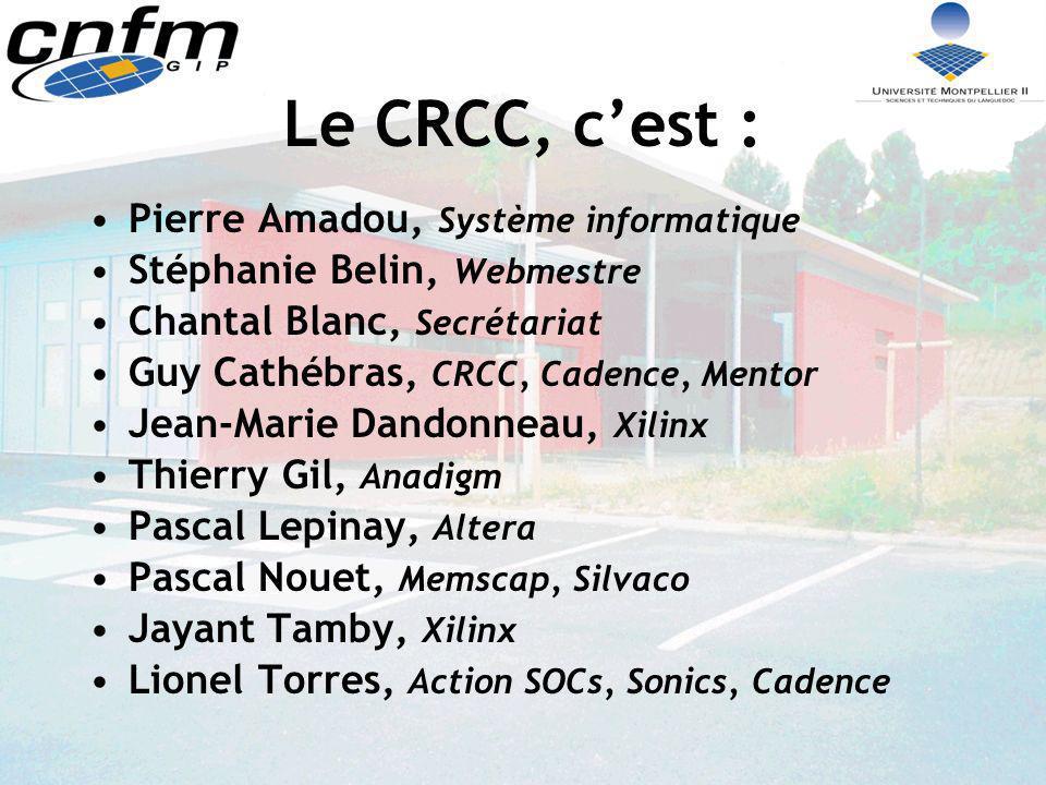 Le CRCC, c'est : Pierre Amadou, Système informatique