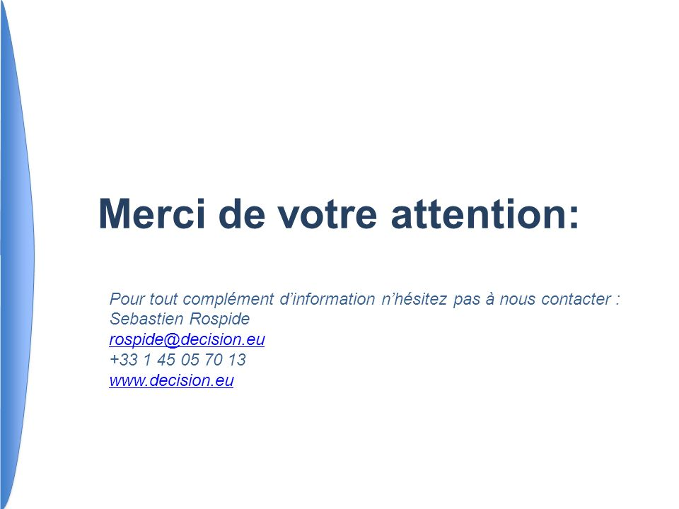 Merci de votre attention: