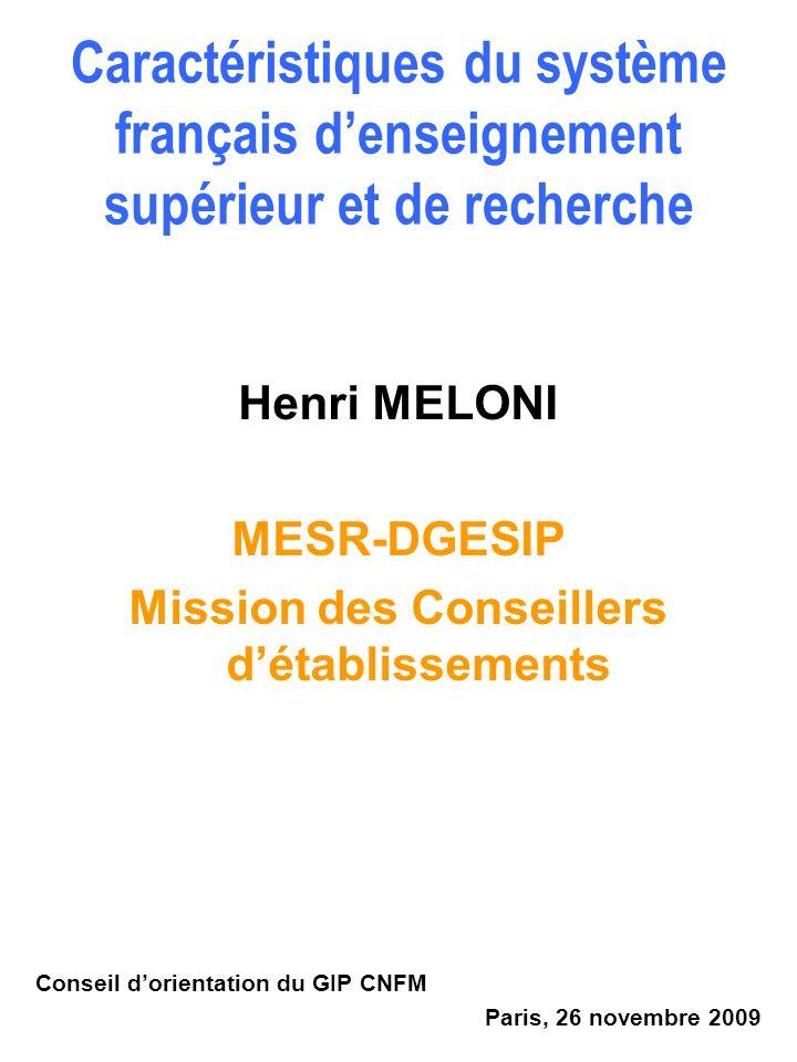 Mission des Conseillers d'établissements