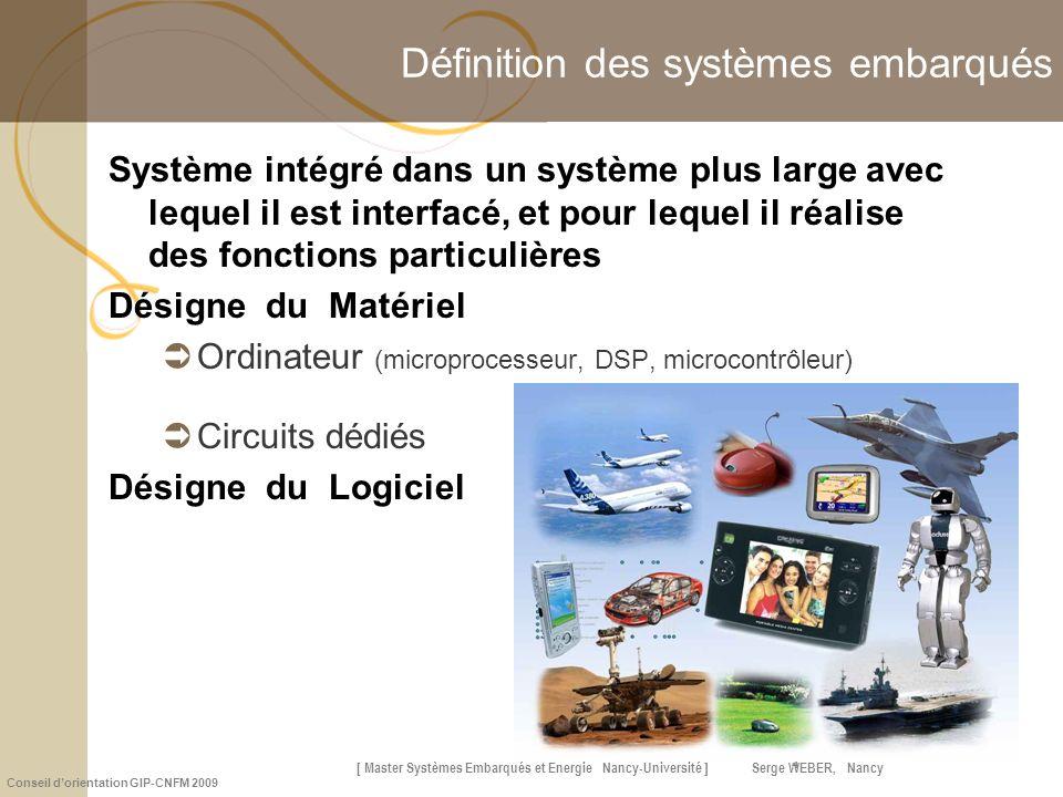 Définition des systèmes embarqués