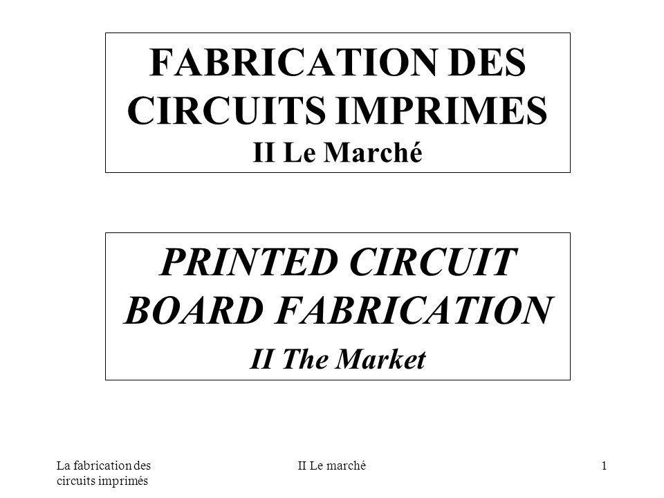 FABRICATION DES CIRCUITS IMPRIMES II Le Marché