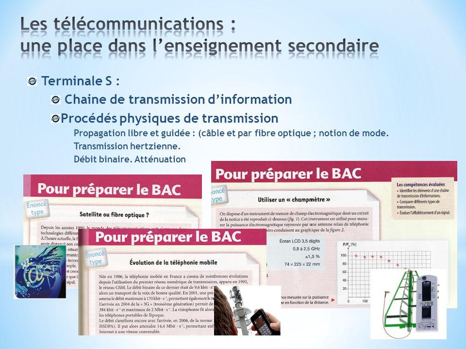 Les télécommunications : une place dans l'enseignement secondaire