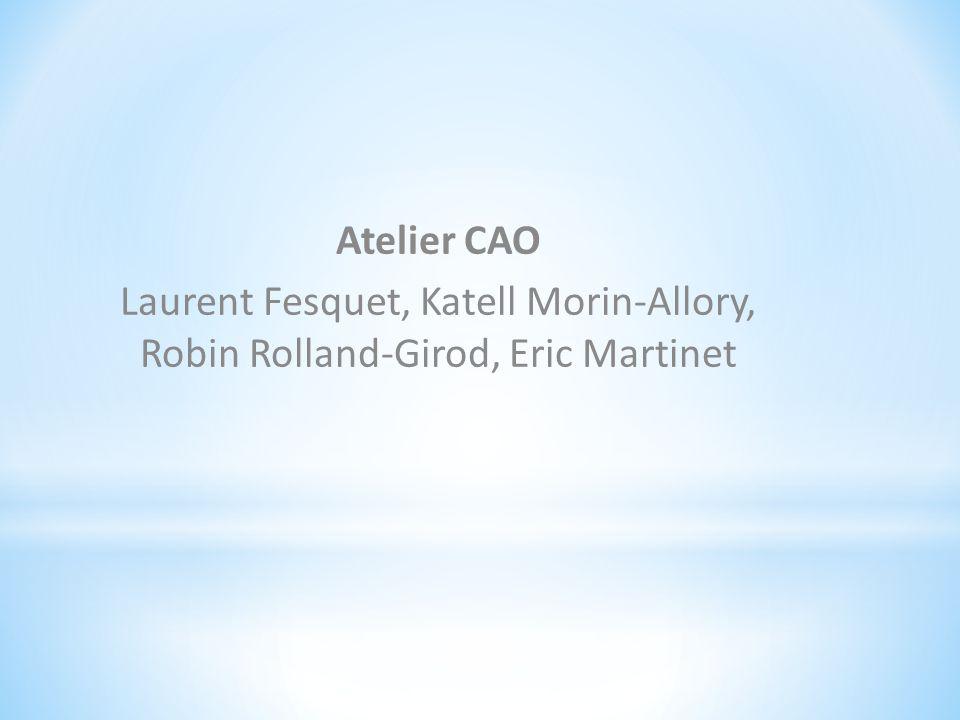 Atelier CAO Laurent Fesquet, Katell Morin-Allory, Robin Rolland-Girod, Eric Martinet