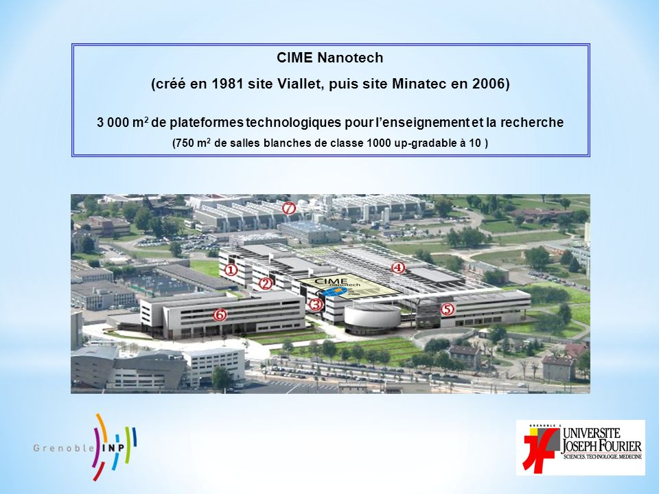 CIME Nanotech (créé en 1981 site Viallet, puis site Minatec en 2006)