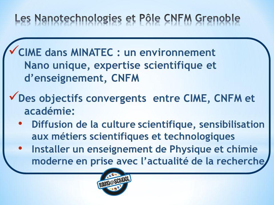 Les Nanotechnologies et Pôle CNFM Grenoble