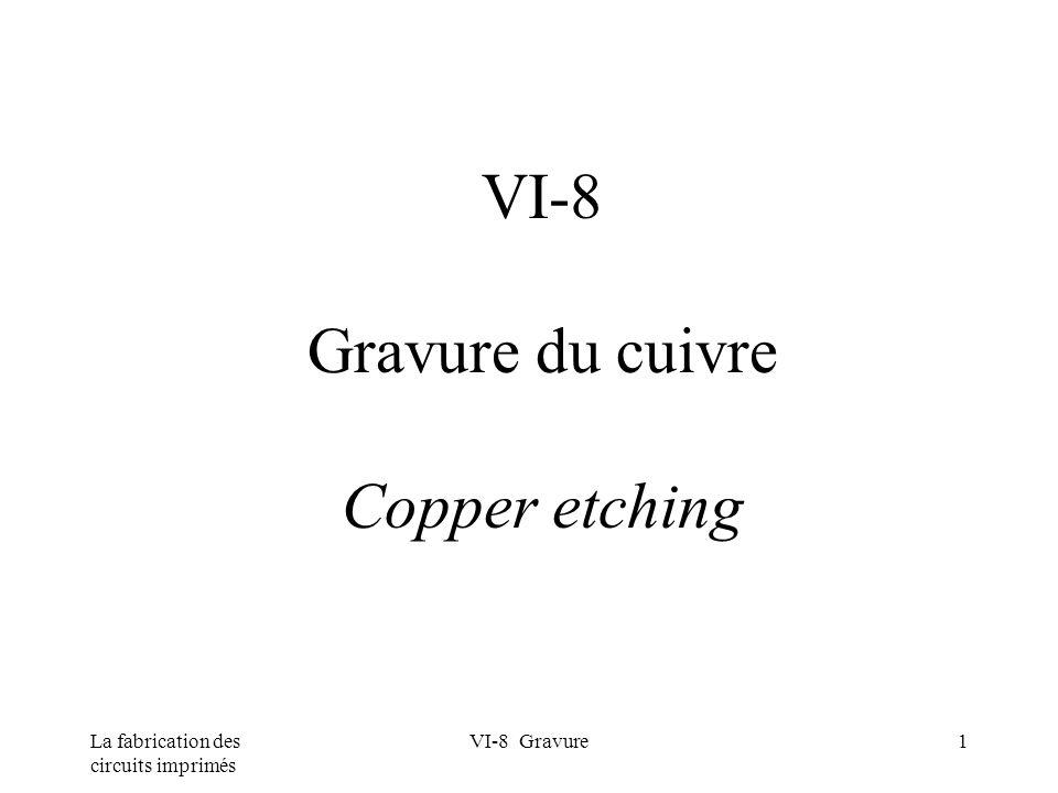 VI-8 Gravure du cuivre Copper etching